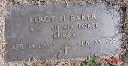 BAKER (VETERAN KOR), LEROY H - Izard County, Arkansas   LEROY H BAKER (VETERAN KOR) - Arkansas Gravestone Photos
