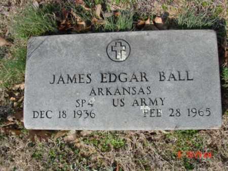 BALL  (VETERAN), JAMES EDGAR - Izard County, Arkansas   JAMES EDGAR BALL  (VETERAN) - Arkansas Gravestone Photos