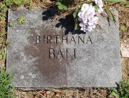 BALL, BIRTHANA - Izard County, Arkansas | BIRTHANA BALL - Arkansas Gravestone Photos