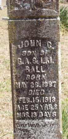 BALL, JOHN CALVIN - Izard County, Arkansas | JOHN CALVIN BALL - Arkansas Gravestone Photos