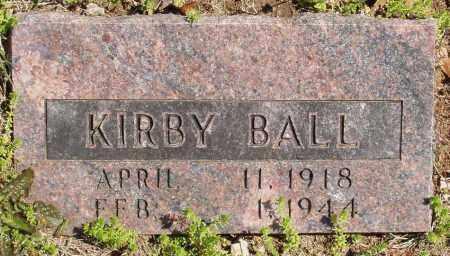 BALL, KIRBY - Izard County, Arkansas | KIRBY BALL - Arkansas Gravestone Photos