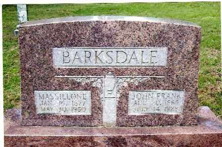 BARKSDALE, JOHN FRANK - Izard County, Arkansas | JOHN FRANK BARKSDALE - Arkansas Gravestone Photos