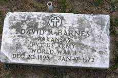BARNES (VETERAN WWI), DAVID A. - Izard County, Arkansas   DAVID A. BARNES (VETERAN WWI) - Arkansas Gravestone Photos