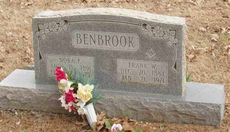 BENBROOK, NORA F - Izard County, Arkansas | NORA F BENBROOK - Arkansas Gravestone Photos