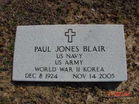 BLAIR  (VETERAN 2 WARS), PAUL JONES - Izard County, Arkansas | PAUL JONES BLAIR  (VETERAN 2 WARS) - Arkansas Gravestone Photos