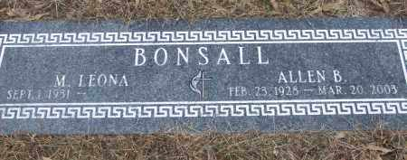 BONSALL, M. LEONA - Izard County, Arkansas | M. LEONA BONSALL - Arkansas Gravestone Photos