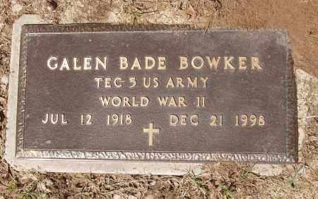 BOWKER (VETERAN WWII), GALEN BADE - Izard County, Arkansas   GALEN BADE BOWKER (VETERAN WWII) - Arkansas Gravestone Photos