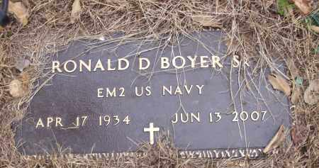 BOYER,  SR (VETERAN), RONALD D - Izard County, Arkansas | RONALD D BOYER,  SR (VETERAN) - Arkansas Gravestone Photos
