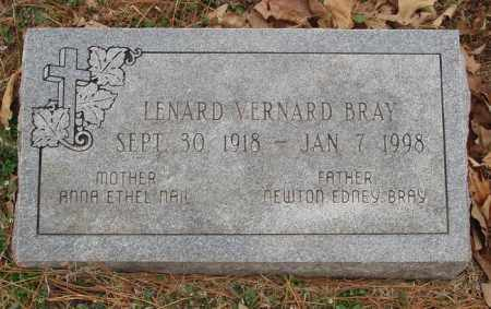 BRAY, LENARD VERNARD - Izard County, Arkansas   LENARD VERNARD BRAY - Arkansas Gravestone Photos