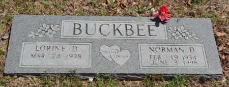 BUCKBEE, NORMAN D - Izard County, Arkansas | NORMAN D BUCKBEE - Arkansas Gravestone Photos