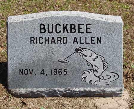BUCKBEE, RICHARD ALLEN - Izard County, Arkansas | RICHARD ALLEN BUCKBEE - Arkansas Gravestone Photos