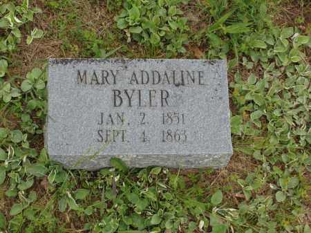 BYLER, MARY ADDALINE - Izard County, Arkansas   MARY ADDALINE BYLER - Arkansas Gravestone Photos