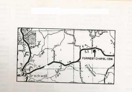 *, FORREST CHAPEL MAP - Izard County, Arkansas | FORREST CHAPEL MAP * - Arkansas Gravestone Photos