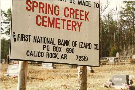 *SIGN,  - Izard County, Arkansas    *SIGN - Arkansas Gravestone Photos