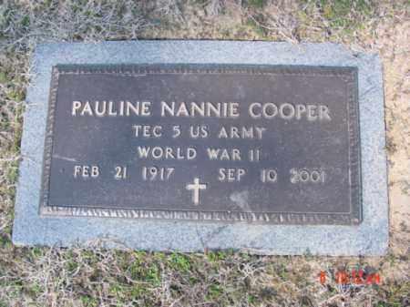 COOPER  (VETERAN WWII), PAULINE NANNIE - Izard County, Arkansas   PAULINE NANNIE COOPER  (VETERAN WWII) - Arkansas Gravestone Photos