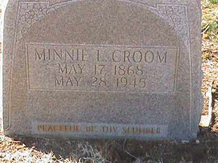 CROOM, MINNIE L. - Izard County, Arkansas | MINNIE L. CROOM - Arkansas Gravestone Photos