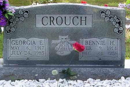 CROUCH, BENNIE H. (OBIT) - Izard County, Arkansas   BENNIE H. (OBIT) CROUCH - Arkansas Gravestone Photos