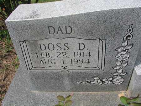 DALE, DOSS DENNIS (CLOSE UP) - Izard County, Arkansas   DOSS DENNIS (CLOSE UP) DALE - Arkansas Gravestone Photos