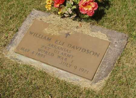 DAVIDSON  (VETERAN WWI), WILLIAM ELI - Izard County, Arkansas | WILLIAM ELI DAVIDSON  (VETERAN WWI) - Arkansas Gravestone Photos