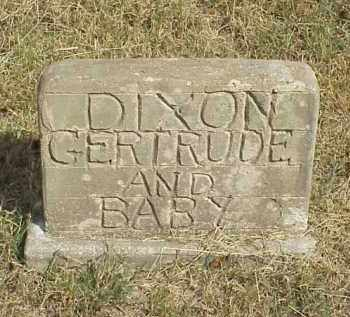JEFFERY DIXON, GERTRUDE AND BABY - Izard County, Arkansas | GERTRUDE AND BABY JEFFERY DIXON - Arkansas Gravestone Photos