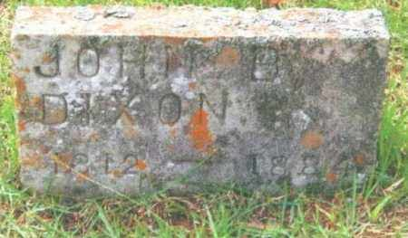 DIXON, JOHN B. - Izard County, Arkansas | JOHN B. DIXON - Arkansas Gravestone Photos