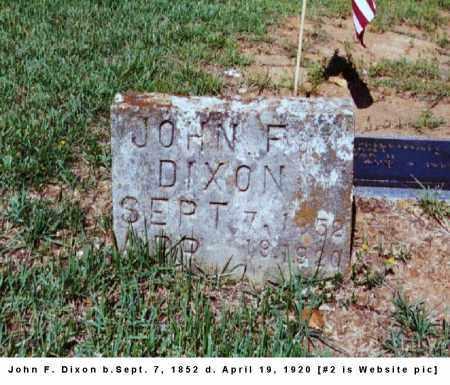 DIXON, JOHN F. - Izard County, Arkansas | JOHN F. DIXON - Arkansas Gravestone Photos