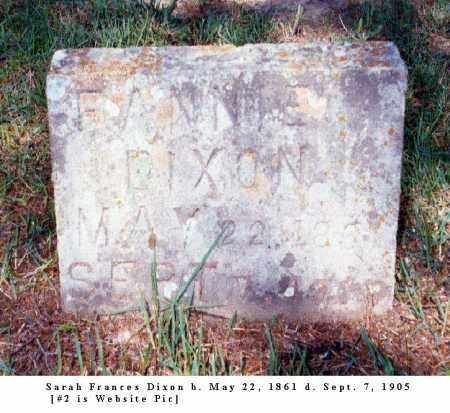 DIXON, SARAH FRANCES - Izard County, Arkansas | SARAH FRANCES DIXON - Arkansas Gravestone Photos