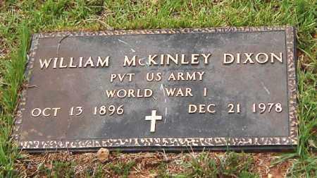 DIXON (VETERAN WWI), WILLIAM MCKINLEY - Izard County, Arkansas | WILLIAM MCKINLEY DIXON (VETERAN WWI) - Arkansas Gravestone Photos