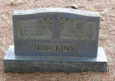 DOCKINS, BECKEY LANGSTON - Izard County, Arkansas   BECKEY LANGSTON DOCKINS - Arkansas Gravestone Photos