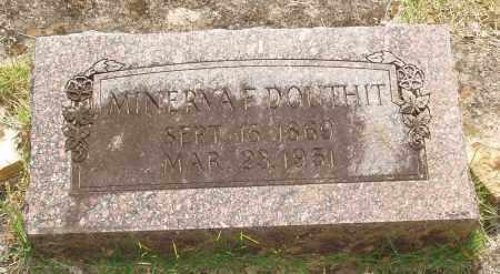 KERR DOUTHIT, MINERVA F - Izard County, Arkansas | MINERVA F KERR DOUTHIT - Arkansas Gravestone Photos