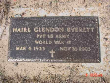 EVERETT  (VETERAN WWII), HAIRL GLENDON - Izard County, Arkansas | HAIRL GLENDON EVERETT  (VETERAN WWII) - Arkansas Gravestone Photos