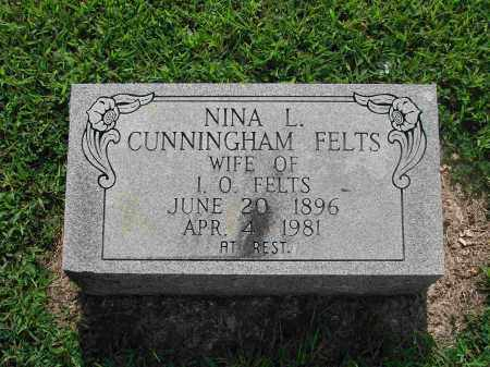 CUNNINGHAM FELTS, NINA L. - Izard County, Arkansas | NINA L. CUNNINGHAM FELTS - Arkansas Gravestone Photos