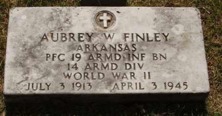 FINLEY  (VETERAN WWII), AUBREY W - Izard County, Arkansas | AUBREY W FINLEY  (VETERAN WWII) - Arkansas Gravestone Photos