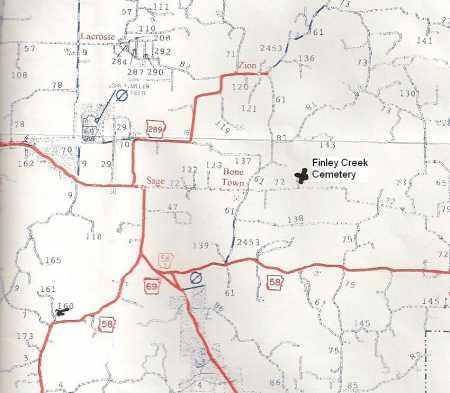 *, FINLEY CREEK CEMETERY MAP - Izard County, Arkansas   FINLEY CREEK CEMETERY MAP * - Arkansas Gravestone Photos
