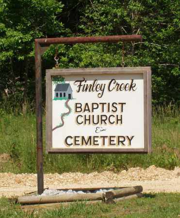 *, FINLEY CREEK CEMETERY SIGN - Izard County, Arkansas | FINLEY CREEK CEMETERY SIGN * - Arkansas Gravestone Photos