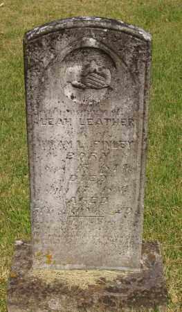 RAGAN FINLEY, LEAH LEATHER - Izard County, Arkansas | LEAH LEATHER RAGAN FINLEY - Arkansas Gravestone Photos