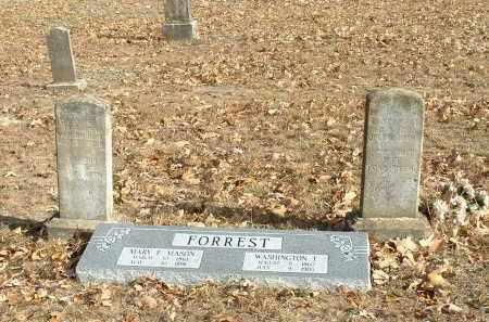 FORREST, WASHINGTON T. & MARY E. MASON - Izard County, Arkansas   WASHINGTON T. & MARY E. MASON FORREST - Arkansas Gravestone Photos