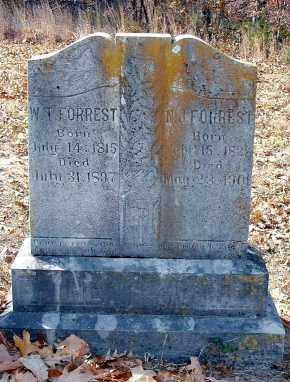 FORREST, WASHINGTON T. & NANCY JANE COOK - Izard County, Arkansas   WASHINGTON T. & NANCY JANE COOK FORREST - Arkansas Gravestone Photos