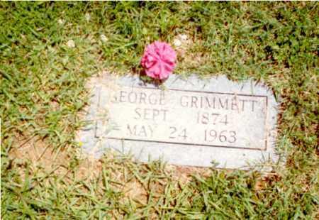 GRIMMETT, GEORGE ANDREW - Izard County, Arkansas   GEORGE ANDREW GRIMMETT - Arkansas Gravestone Photos