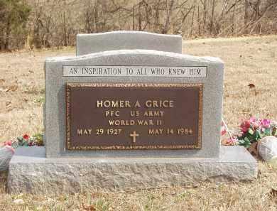 GRICE  (VETERAN WWII), HOMER A - Izard County, Arkansas   HOMER A GRICE  (VETERAN WWII) - Arkansas Gravestone Photos