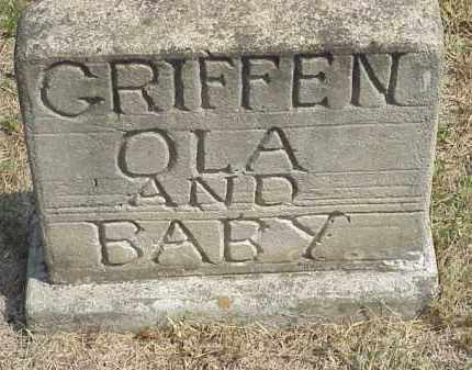 GRIFFIN, OLA AND BABY - Izard County, Arkansas   OLA AND BABY GRIFFIN - Arkansas Gravestone Photos