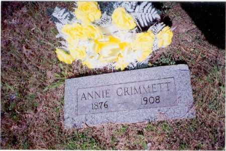 WOOD GRIMMETT, ANNIE - Izard County, Arkansas | ANNIE WOOD GRIMMETT - Arkansas Gravestone Photos