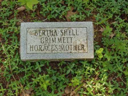 SHELL GRIMMETT, BERTHA - Izard County, Arkansas   BERTHA SHELL GRIMMETT - Arkansas Gravestone Photos