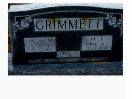 GRIMMETT, OPAL - Izard County, Arkansas | OPAL GRIMMETT - Arkansas Gravestone Photos