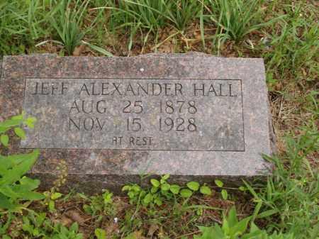 HALL, JEFF ALEXANDER - Izard County, Arkansas   JEFF ALEXANDER HALL - Arkansas Gravestone Photos