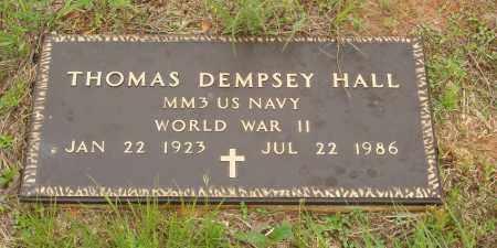 HALL  (VETERAN WWII), THOMAS DEMPSEY - Izard County, Arkansas | THOMAS DEMPSEY HALL  (VETERAN WWII) - Arkansas Gravestone Photos