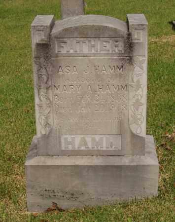 HAMM, ASA J - Izard County, Arkansas   ASA J HAMM - Arkansas Gravestone Photos
