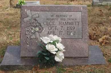 HAMMETT, CECIL - Izard County, Arkansas   CECIL HAMMETT - Arkansas Gravestone Photos