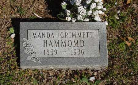 GRIMMETT HAMMOND, AMANDA - Izard County, Arkansas | AMANDA GRIMMETT HAMMOND - Arkansas Gravestone Photos