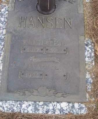 HANSEN, KENNETH L - Izard County, Arkansas   KENNETH L HANSEN - Arkansas Gravestone Photos